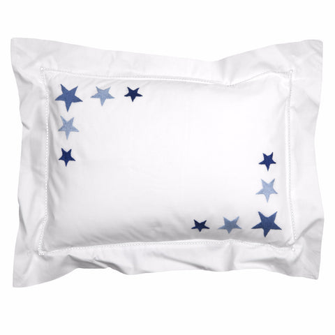 blue star cluster pillowcase