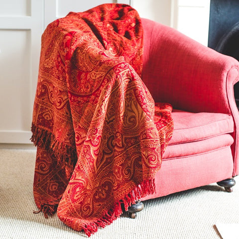 Paisley Wool Throws