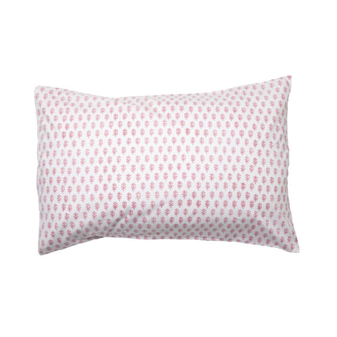 Pink Sprig & Stripe Pillowcase