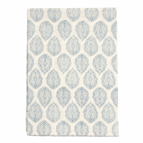 Blue Leaf Print Tablecloth