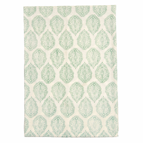 Green Leaf Print Tablecloth