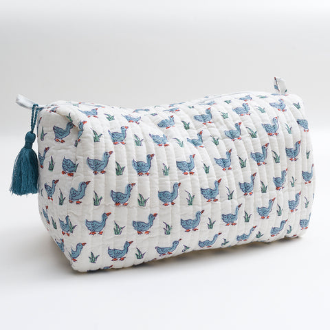 Blue Ducks Wash Bag