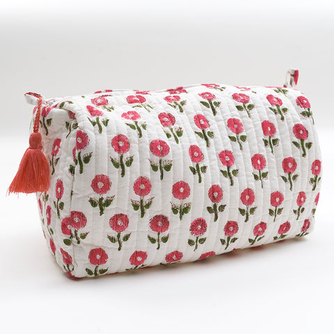 Pink Daisy Wash Bag