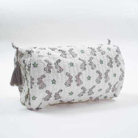 Green Bunnies Wash Bag