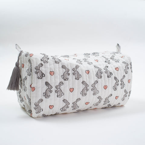 Pink Bunnies Wash Bag