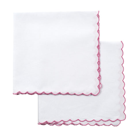 Pink Mini Scallop Napkin