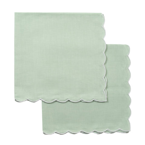 Green Scallop Napkin - Set of 4