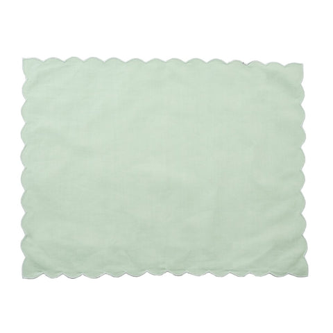 Green Scallop Placemat - Set of 4