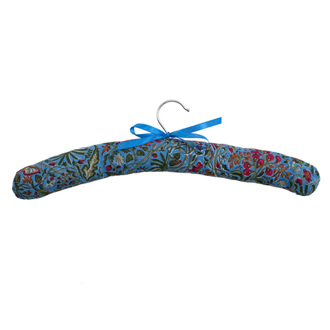 Blue Floral Coat Hanger