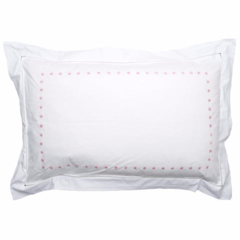 Pink Star Border Pillowcase
