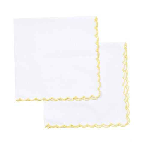 Yellow Mini Scallop Napkin