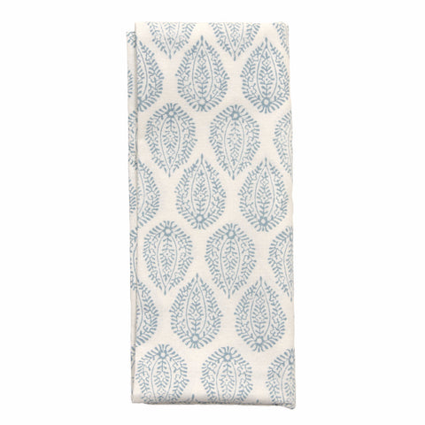 Blue Leaf Print Napkins - Set of 4