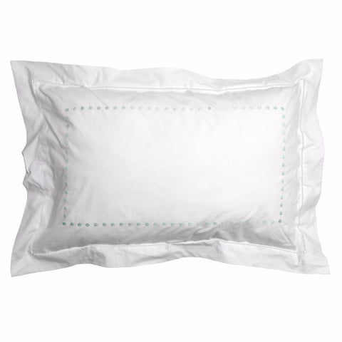 Aqua dot pillowcase