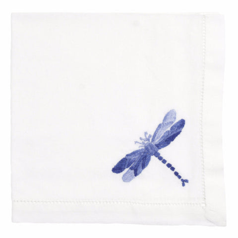 Shaded Blue Dragonfly Napkin - Set of 4