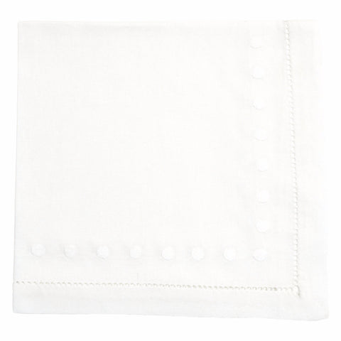 white dot linen napkin