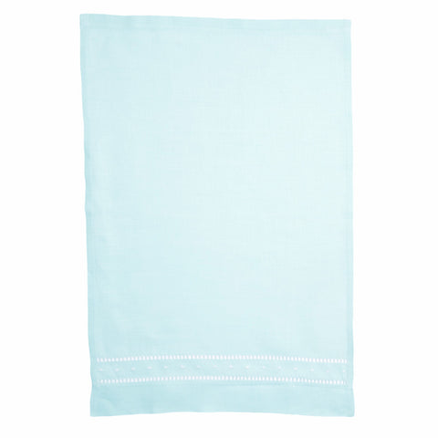 mint green linen hand towel cut out