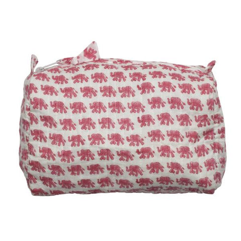 Wash Bag Pink Elephant