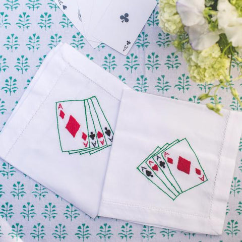Playing Cards Napkins - Set of 4