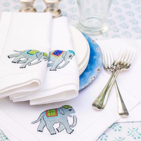 Elephant Napkins - Set of 4