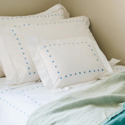 Blue Star Border Baby Pillowcase