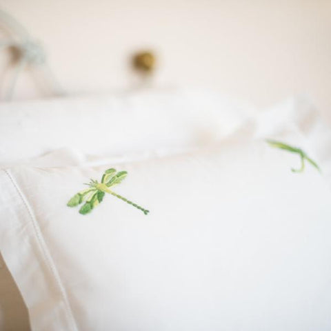 Shaded Green Dragonfly Square Pillowcase