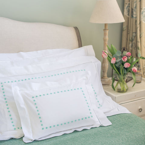 Aqua dots standard pillowcase
