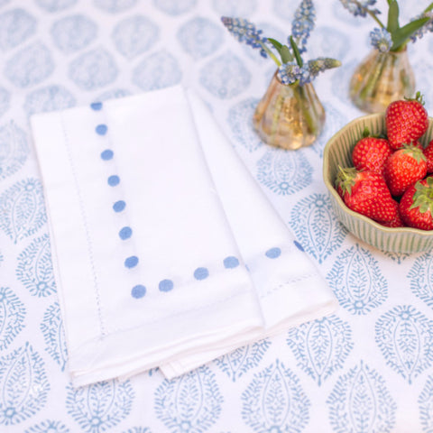 Blue Dots Napkin - Set of 4