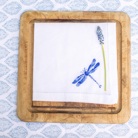 Shaded Blue Dragonfly napkin
