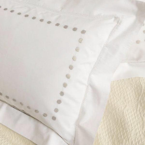 Grey Dots Baby Pillowcase