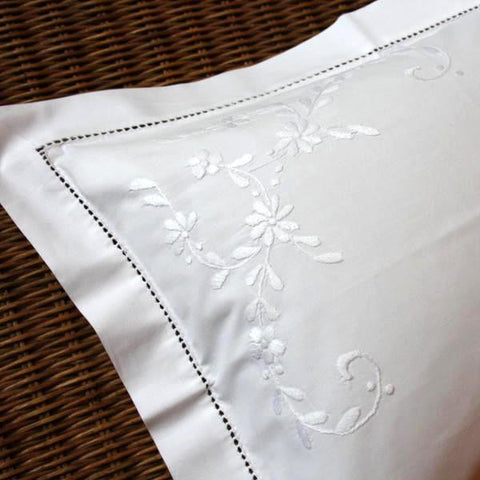 White Floral Baby Pillowcase