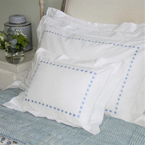Blue Dots Baby Pillowcase