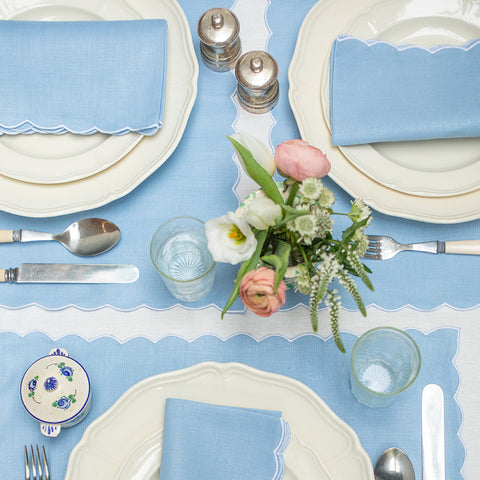 Blue Scallop Placemats - Set of 4