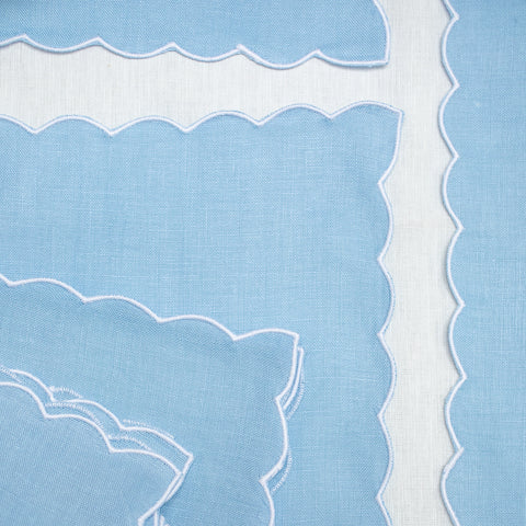 Blue Scallop Napkin - Set of 4