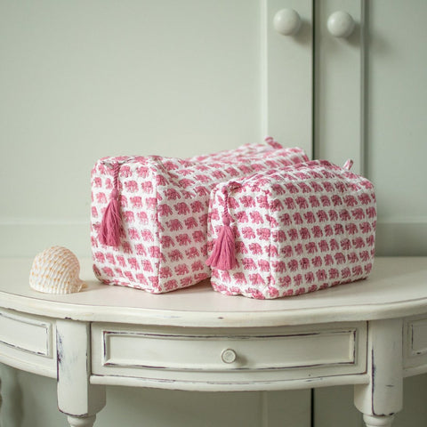 pink elephant wash bag