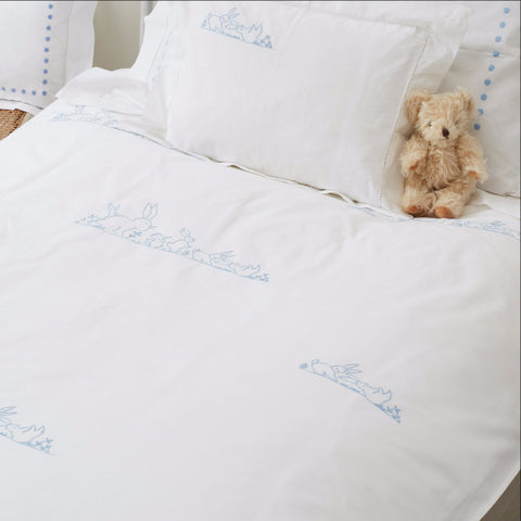 Blue Bunnies Duvet Cover