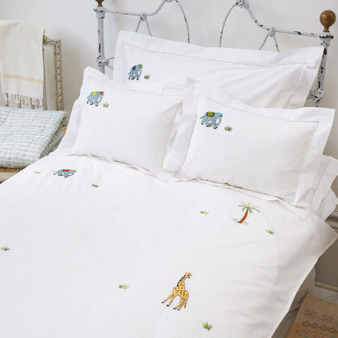 Elephant & Palm Cot Bed Duvet Cover
