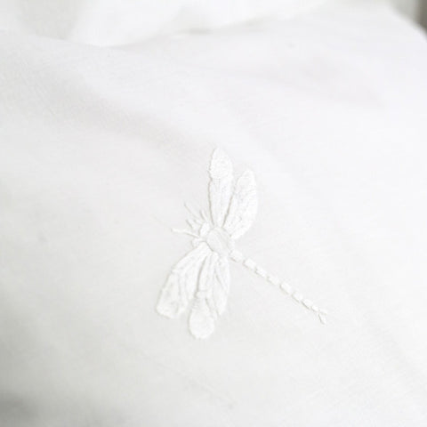 White Dragonfly Duvet Cover