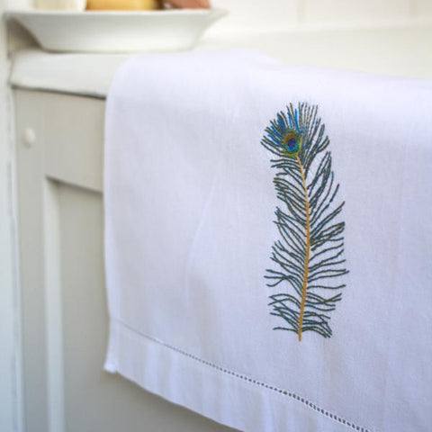 Peacock Feather Hand Towel