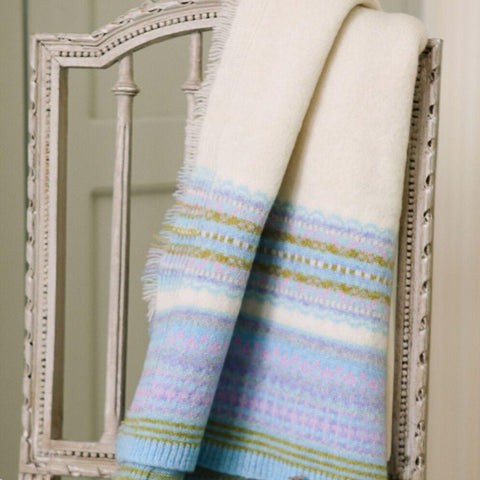cream fairisle blanket