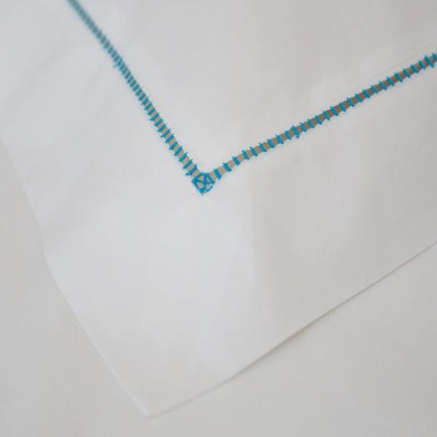 Ladderstitch Oxford Pillowcase Bright Blue