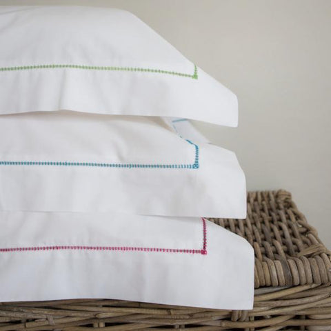 Ladderstitch Oxford Pillowcase Hot Pink