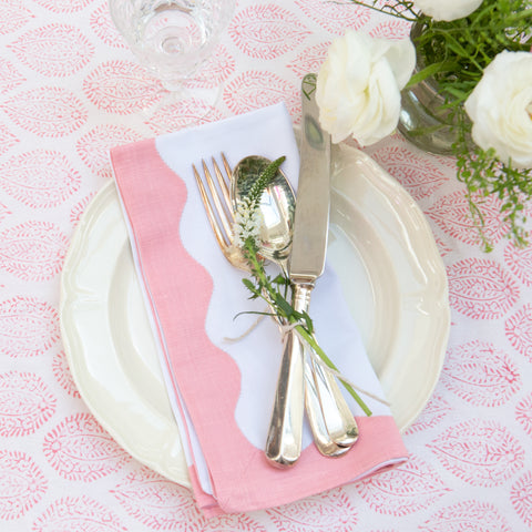 Pink Wave Napkin - Set of 4