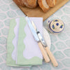 Green Wave Napkin - Set of 4