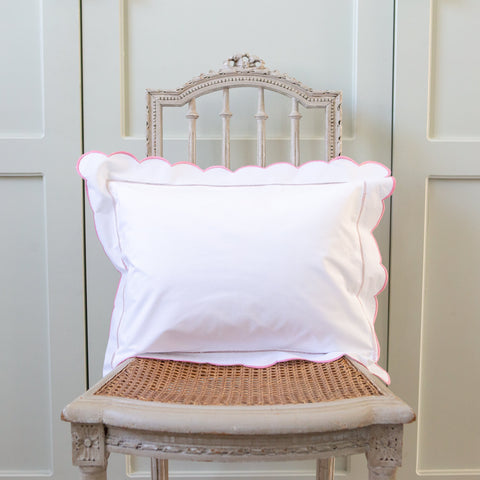 scalloped edge baby pillowcase