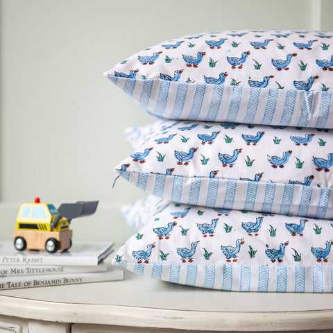 Ducks baby pillowcase