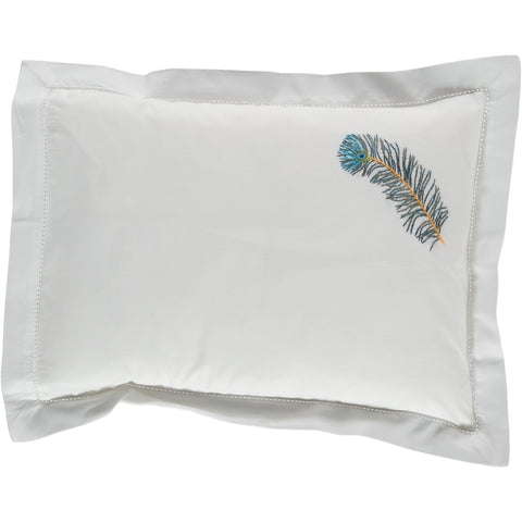 Peacock Feather Baby Pillowcase