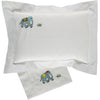 Elephant embroidered pillowcase