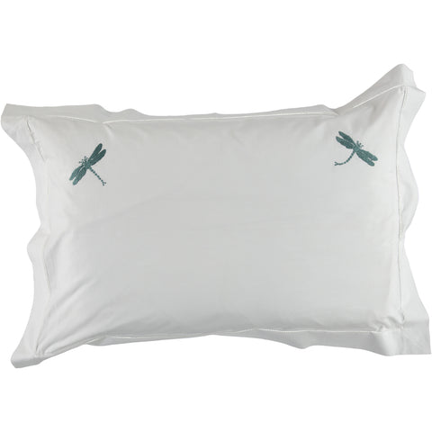 Teal Dragonfly Pillowcase - SUPERKING Size
