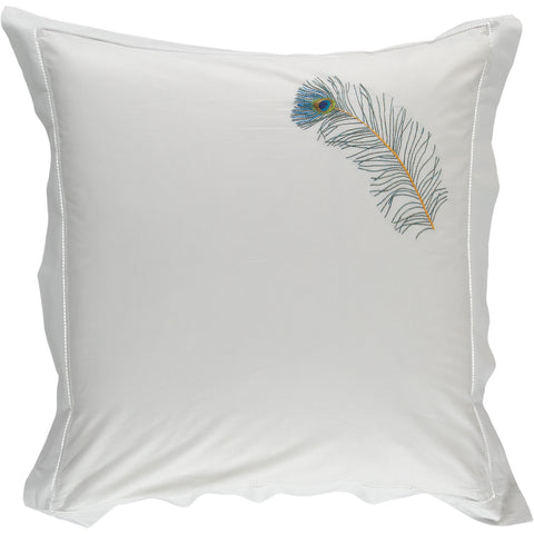 Peacock Feather Square Pillowcase