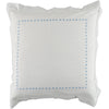 Blue dot embroidered square pillowcase
